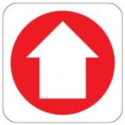 Fire Safety Sign - Fire Arrow Up 020